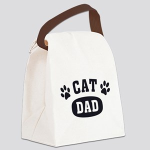 Cat Dad [b/w] Canvas Lunch Bag